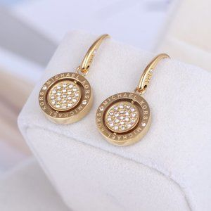 Michael Kors Rotating Letter Disc Earrings